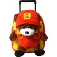 Youth Kreative Kids Plush Fire Chief Bear Roller Bag