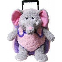 Youth Kreative Kids Plush Elephant Roller Bag