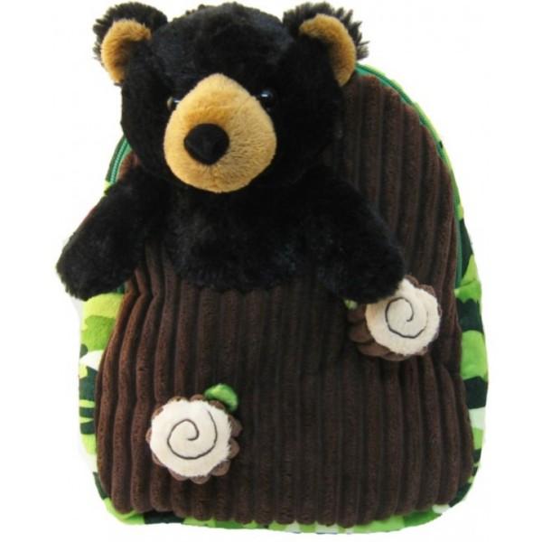 Youth Kreative Kids Plush Black Bear Backpack
