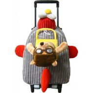 Kreative Kids Airplane Bear Roller Bag