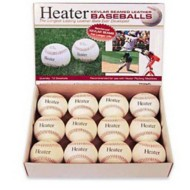 Heater Sports Leather Pitching Machine Baseballs - Dozen