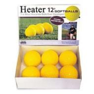 "Heater Sports Dimpled Pitching Machine 12"" Softballs - Dozen"