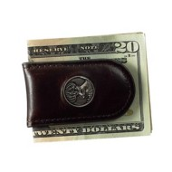 Weber's Premium Dark Chocolate Leather Magnetic Money Clip
