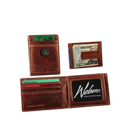 Webers Leather Front Pocket Wallet