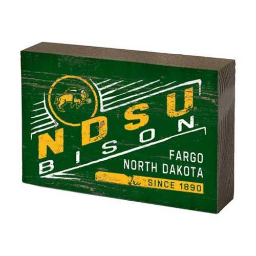 Legacy Athletic North Dakota State Bison Table Block Sign