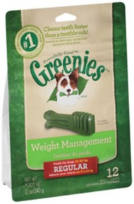 Greenies Weight Management Dental Chew Dog Treats