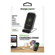 Chargeworx Wireless Charging Stand with Dual USB Ports