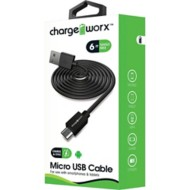 Chargeworx 6ft Basic Micro USB Sync Charge Cable