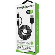 Chargeworx 3ft Lightning & Micro USB Sync & Charge Cable