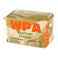 Wolf Ammo 7.62x39 124gr FMJ Military Classic 20/Box 50Box/Cs