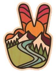 Dust City Designs Peace Sticker