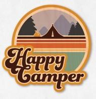 Dust City Designs Happy Camper Sticker