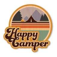 Dust City Designs Happy Camper Tent Sticker