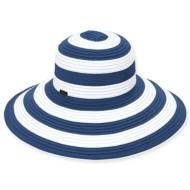Women's Sun 'N' Sand Striped Beach Hat