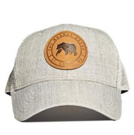 Men's The Normal Brand Leather Patch Trucker Cap