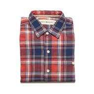 Men's The Normal Brand Leland Indigo Twill Plaid Long Sleeve Shirt