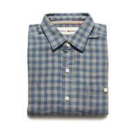 Men's The Normal Brand Stephen Indigo Gingham Long Sleeve Shirt