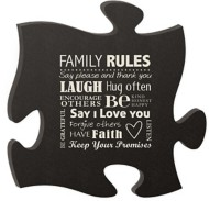 P. Graham Dunn Family Rules Puzzle Plaque