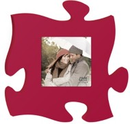 P. Graham Dunn Red Puzzle Photo Frame