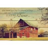 P. Graham Dunn God Made a Farmer Rectangle Pallet Sign