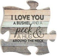 P. Graham Dunn I Love You Puzzle Plaque