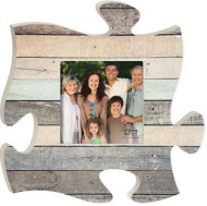 P. Graham Dunn Multi Grey Wood Puzzle Photo Frame