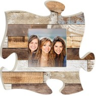 P. Graham Dunn Multi Brown Wood Puzzle Photo Frame