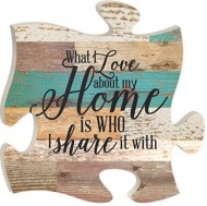 P. Graham Dunn Love About Home Puzzle Plaque