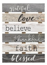 P. Graham Dunn Grateful, Love, Believe, Thankful, Faith, Blessed Pallet Sign