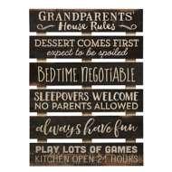 P. Graham Dunn Grandparents House Rules Pallet Sign