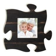 P. Graham Dunn Black Faux Wood Puzzle Plaque