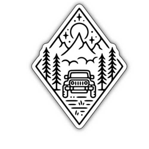Stickers Northwest Outdoor Jeep Scene Sticker