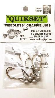 EC Quikset Weedless Crappie Jig 5 pack