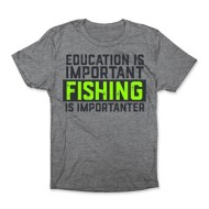 Adult Bone Head Outfitters Fishing Education T-Shirt