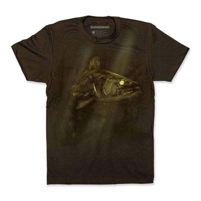 Men's BoneHead Outfitters Underwater Walleye T-Shirt