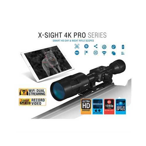 ATN X-Sight-4k Pro 5-20x70 Smart Day/Night Riflescope