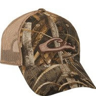 Drake Mesh-Back Raised Logo Camo Hat