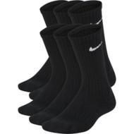Youth Nike Performance Cushioned Crew Training Socks - 6 Pack
