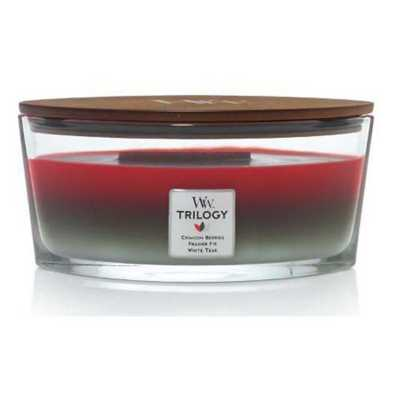 WoodWick Trilogy- Winter Garland Ellipse Candle