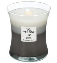 WoodWick Warm Woods 10 oz. Trilogy Candle