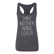 Women's Instant Message Dog Mother Wine Lover Tank