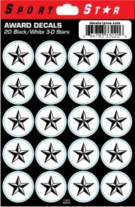 Sportstar Athletics Star Sticker Sheet