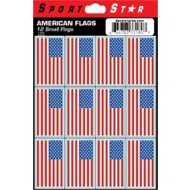 Sportstar Atheletics USA Flag Sticker Sheet