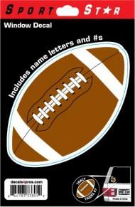 Sportstar Athletics Window Decal Football