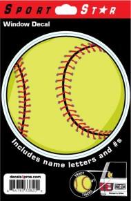 Sportstar Athletics Window Decal Softball