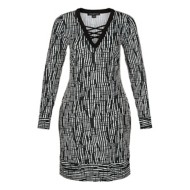 Women's Tribal Flare Long Sleeve Dress