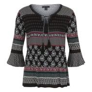 Women's Tribal Decorative 3/4 Sleeve Shirt