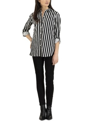 Women's Tribal Shirt with Roll Up Sleeves