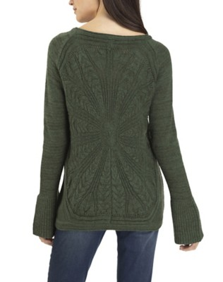 Women's Tribal Bell Sleeve Crew Sweater