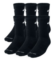 Adult Nike Dri-Fit Cushion Crew  6 Pk Socks